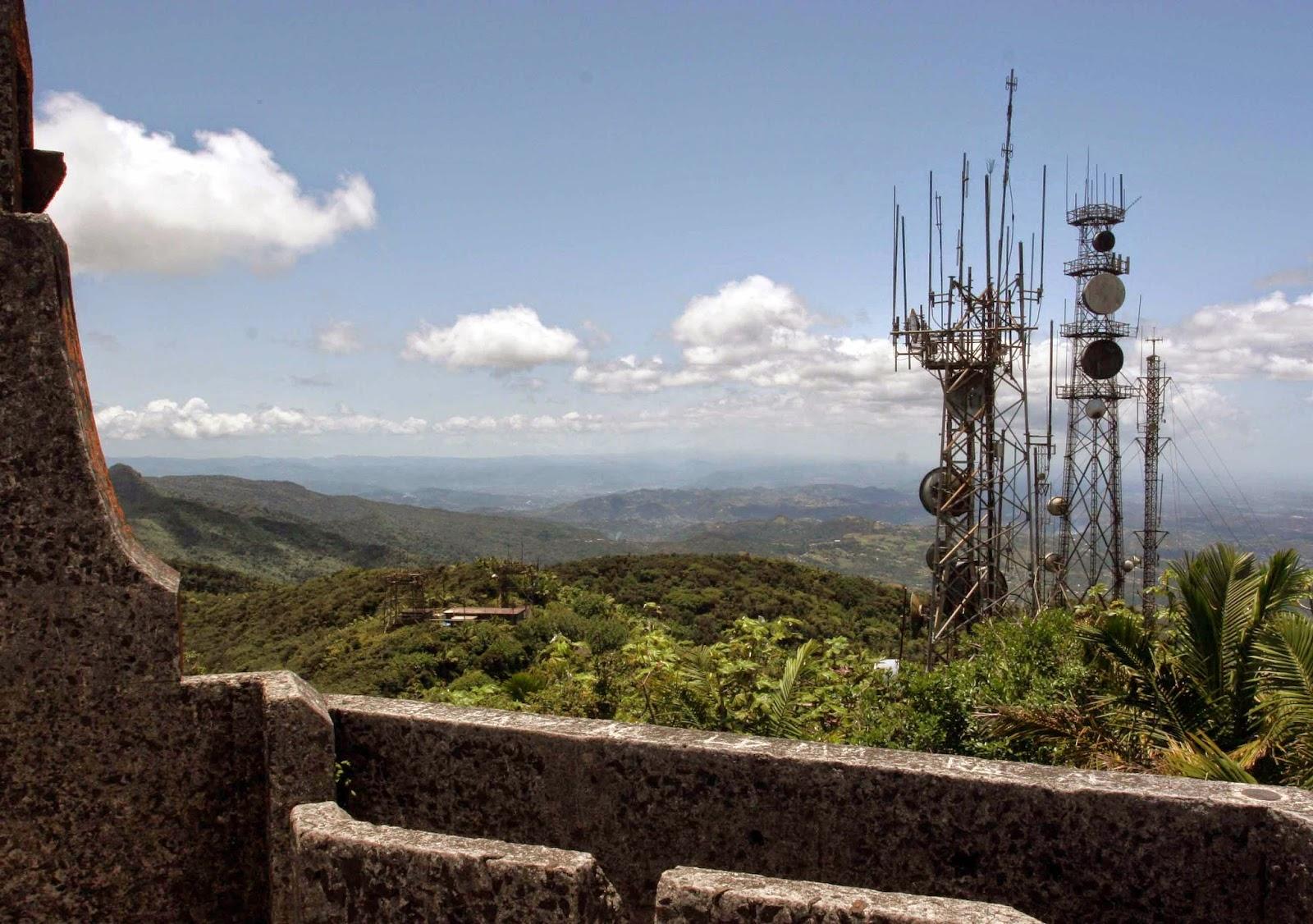 Risultati immagini per cell towers on El Yunque Peak