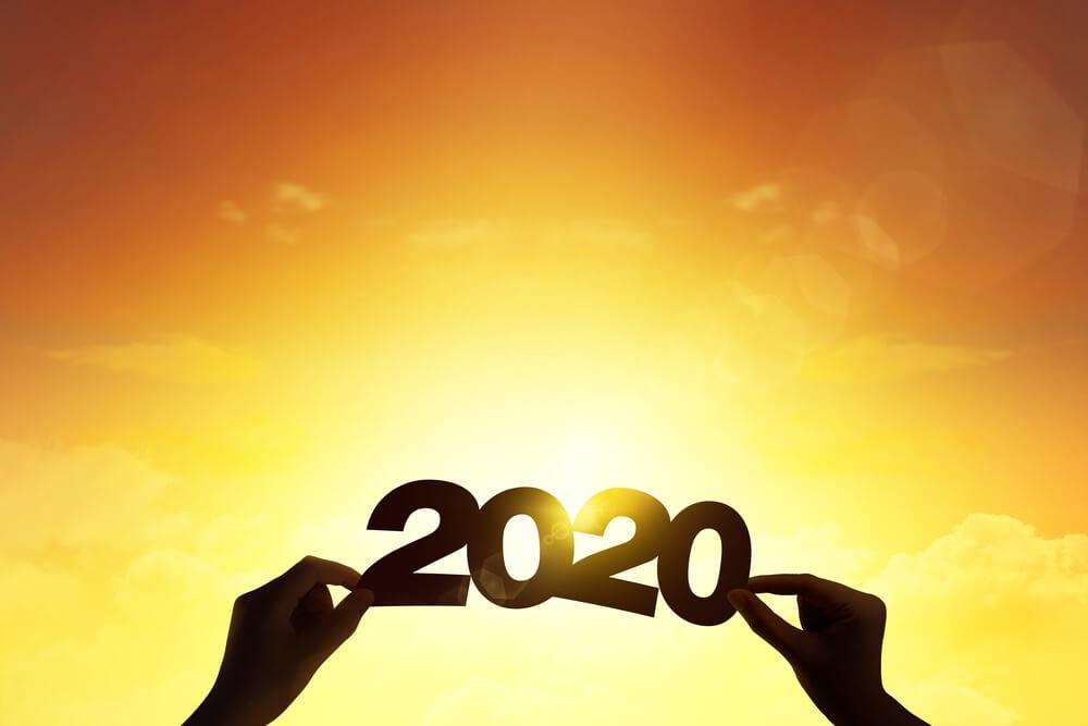 Happy New Year Sunset Wallpaper 2020