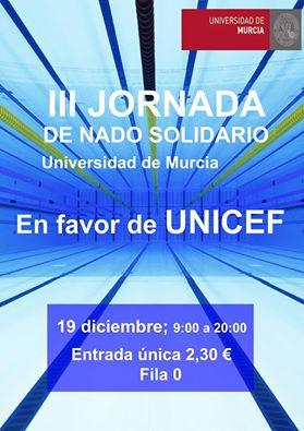 III Jornada de Nado Solidario de la Universidad de Murcia a favor de UNICEF España.