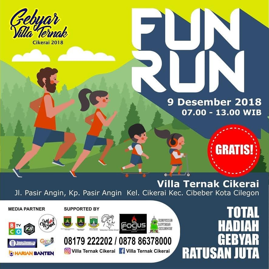 Villa Ternak Cikerai - Fun Run • 2018