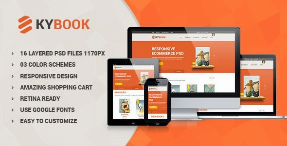 Responsive Book Shop eCommerce Template
