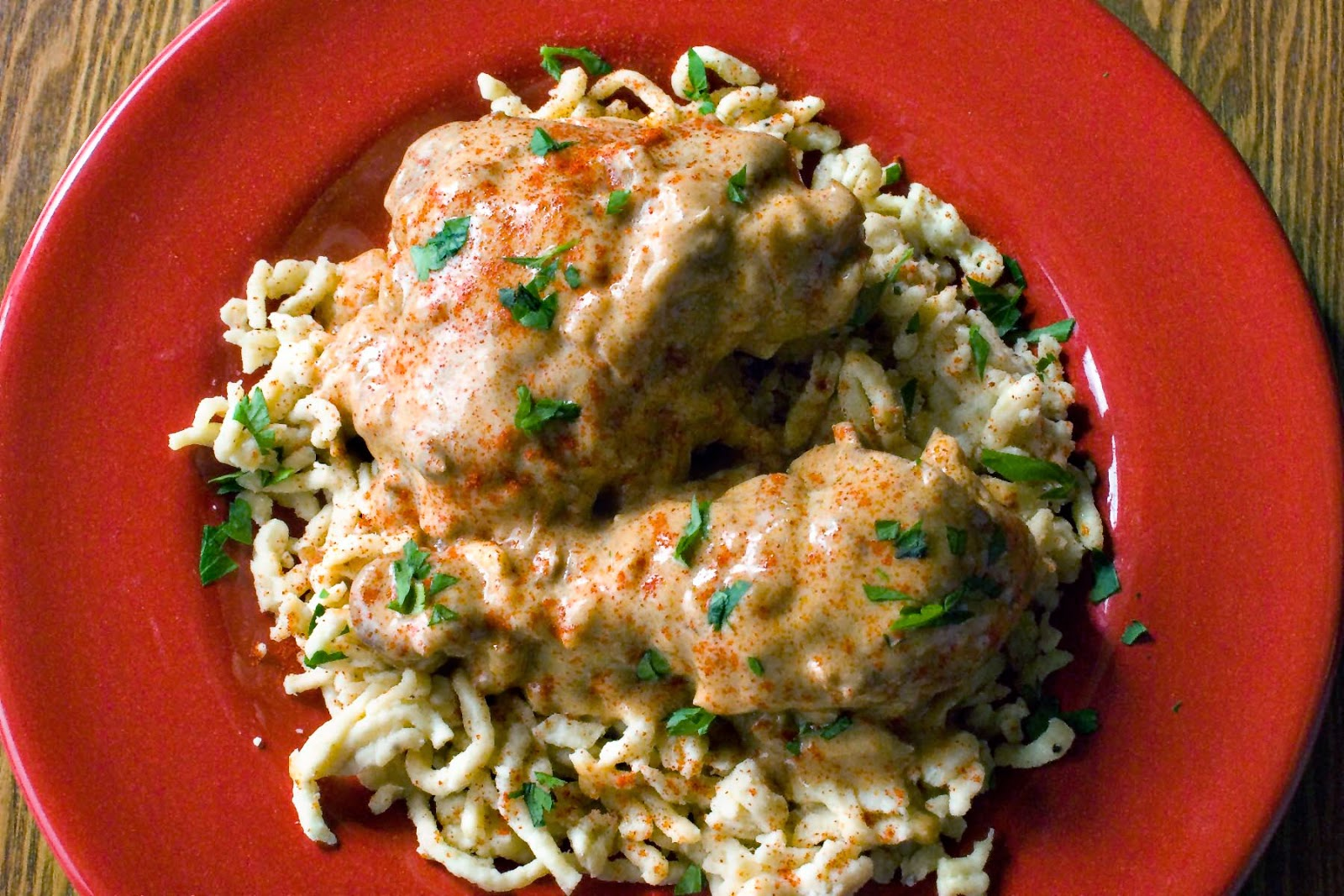 Romanian Chicken Paprikash