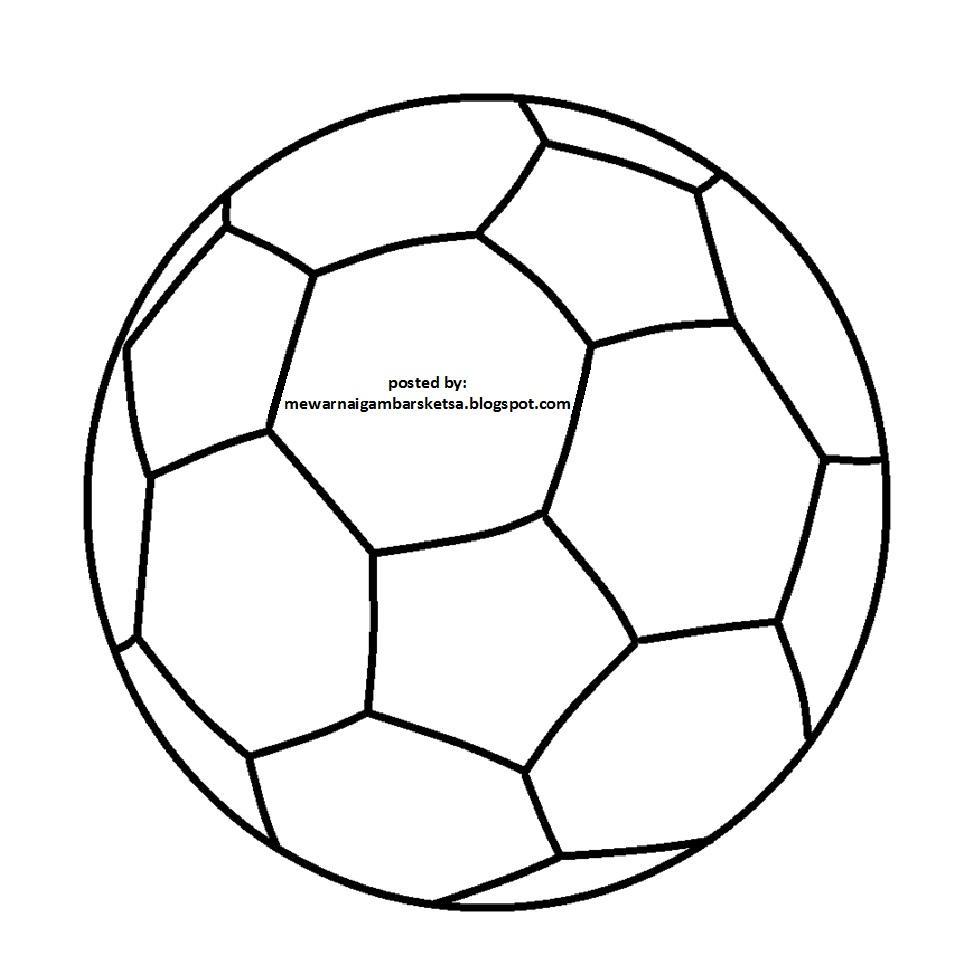 Mewarnai Gambar Sketsa Bola Kaki 1