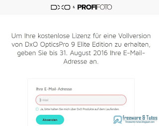 Giveaway : DxO Optics Pro 9 Elite gratuit !
