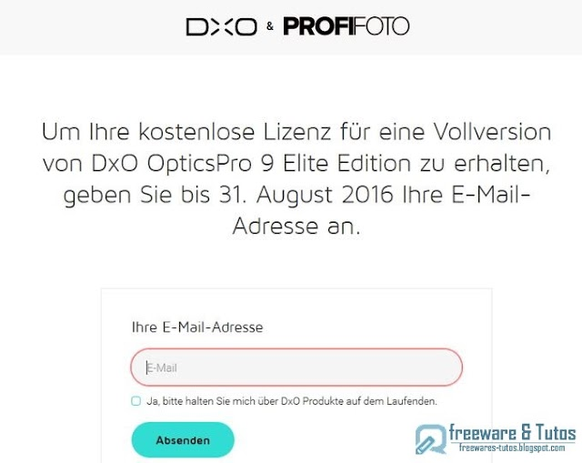 Offre promotionnelle : DxO Optics Pro 9 Elite gratuit !