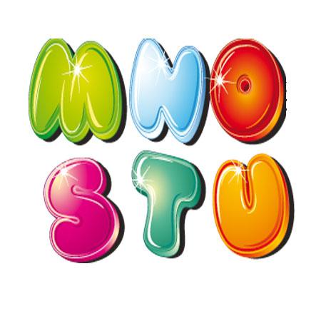Dibujos letras colores para recortar | Imagenes y dibujos para imprimir