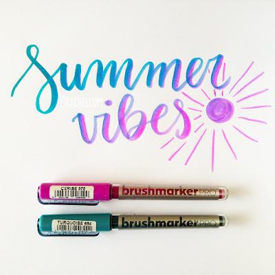 """""""Summer vibes"""" handlettering z Brushmarker PRO"""