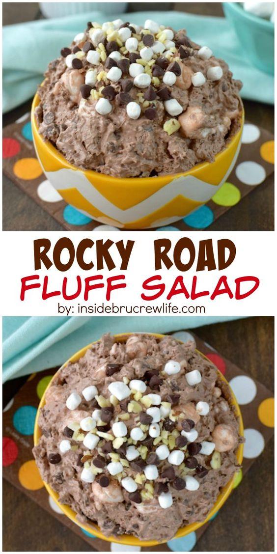 ROCKY ROAD FLUFF SALAD