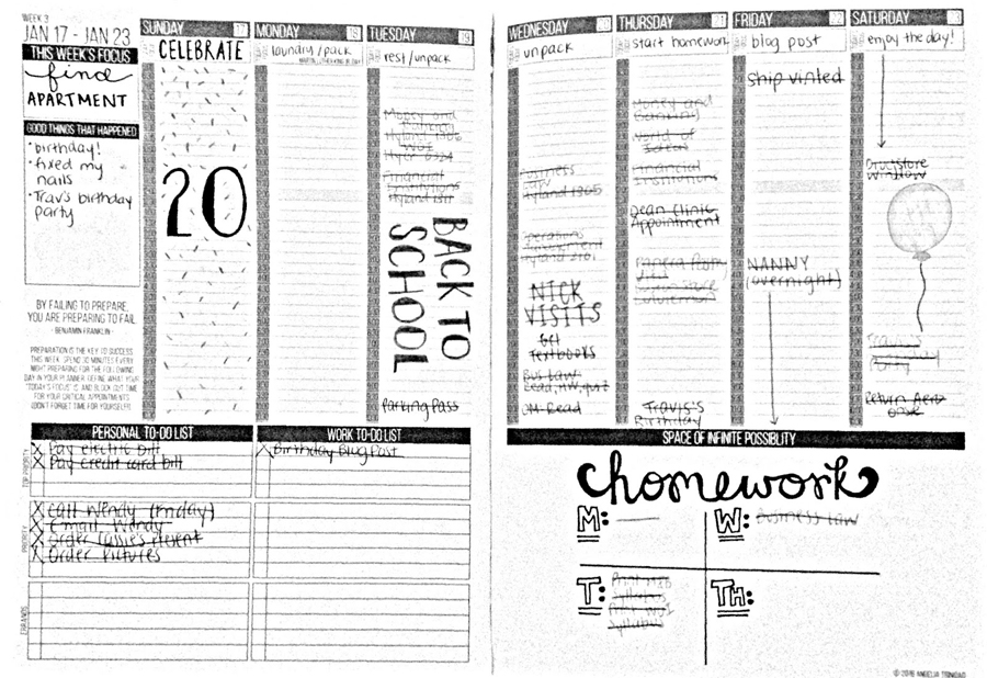 How to Use a Planner, College Planning, College Blogger, Lifestyle Blog, Organization Tips