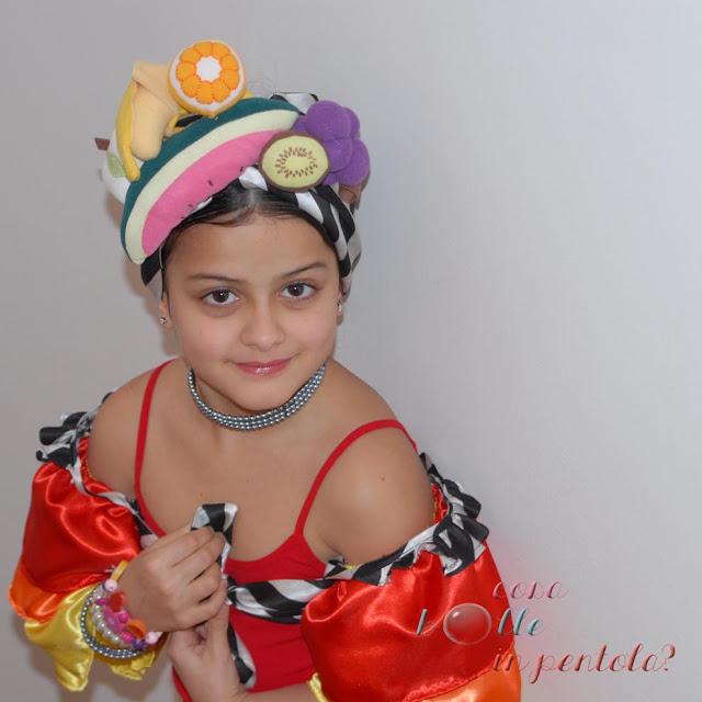 carnevale vestito brasiliana bambina