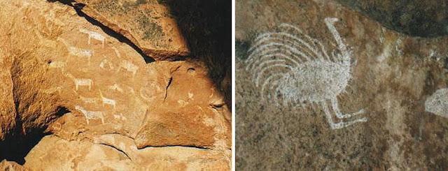 Ñandú, Suri o Choique, iconografía precolombina