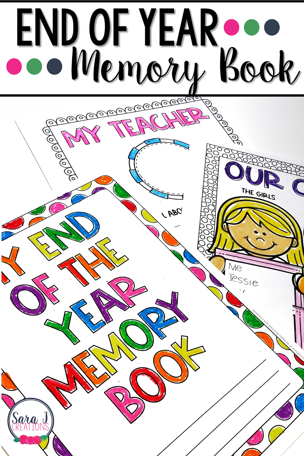This printable end of the year memory book is the perfect activity for kids. Help them countdown the end of the school year with this fun and reflective idea. With 40 pages included, you can pick and choose what pages work for your elementary classroom.