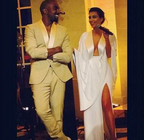Kim Kardashian and Kanye West at Their Wedding Weekend in France
