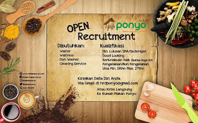 Loker Rumah Makan Ponyo Bandung