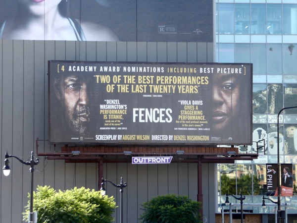 Fences Oscar nominee billboard
