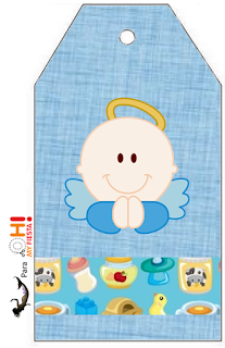 Angel Boy Free Printable Book Marks.