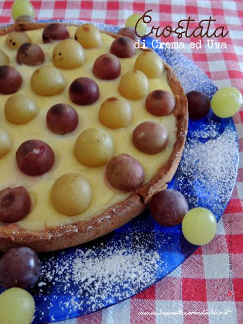Crostata di crema ed uva