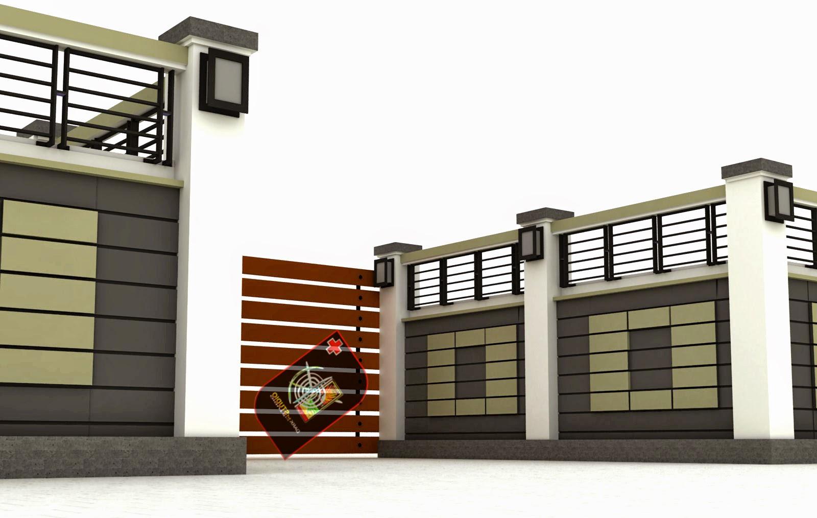 Pintu Pagar Rumah Minimalis Dari Tembok dan Besi - Design ...