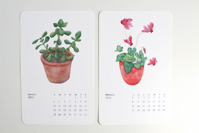 calendar, watercolor, Anne Butera, My Giant Strawberry