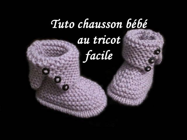 les tutos de fadinou tuto chausson bebe bottes au tricot. Black Bedroom Furniture Sets. Home Design Ideas