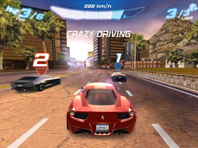 لعبة Asphalt 6: Adrenaline HD لجوالات X10,C7,E6,E7,N9,N8,T7,X7,Nokia 500,600,700