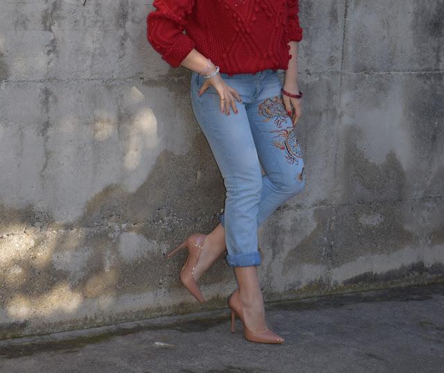 jeans ricamati come abbinare i jeans ricamati abbinamenti jeans ricamati outfit marzo 2017 mariafelicia magno fashion blogger colorblock by felym fashion blog italiani fashion blogger italiane blogger italiane
