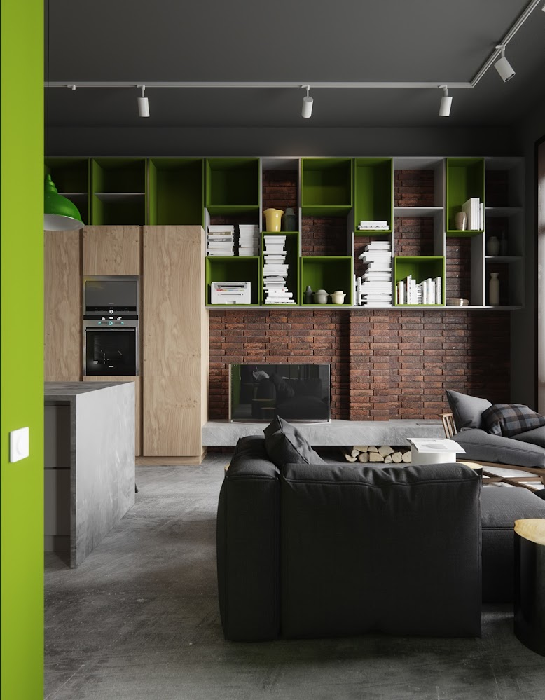 lime-green-wall-cabinets