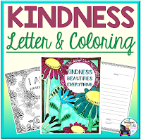 kindness letter and coloring sheets