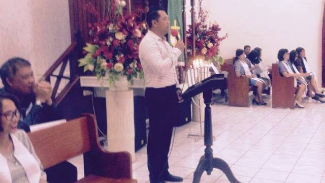 Kapolres Minahasa AKBP Christ Reinhard Pusung SIK saat berikan sambutan.