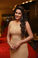 Actress Himaja Stills in Golden Spicy Long Dress at SIIMA Short Film Awards 2017 .COM 0237.JPG