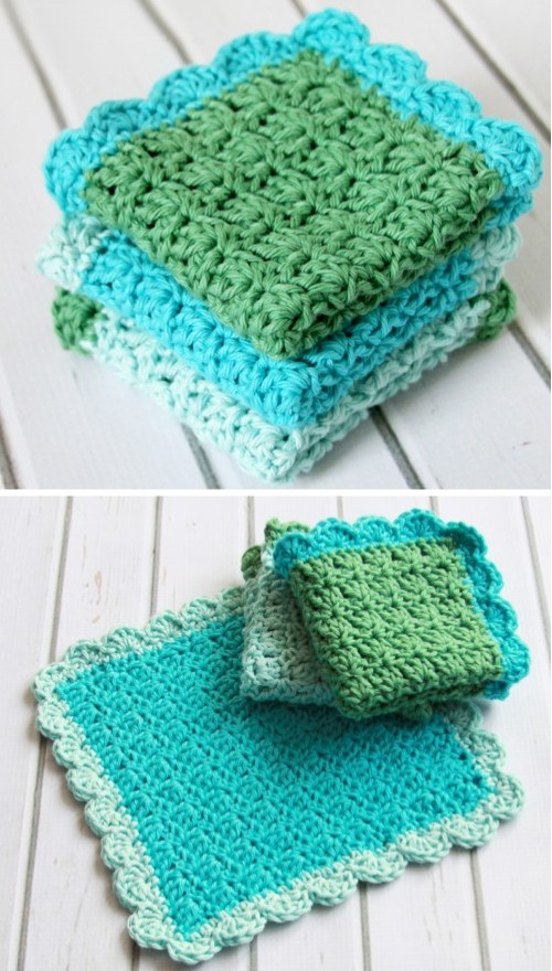 Crochet Dish Cloth - Easy  Free Pattern
