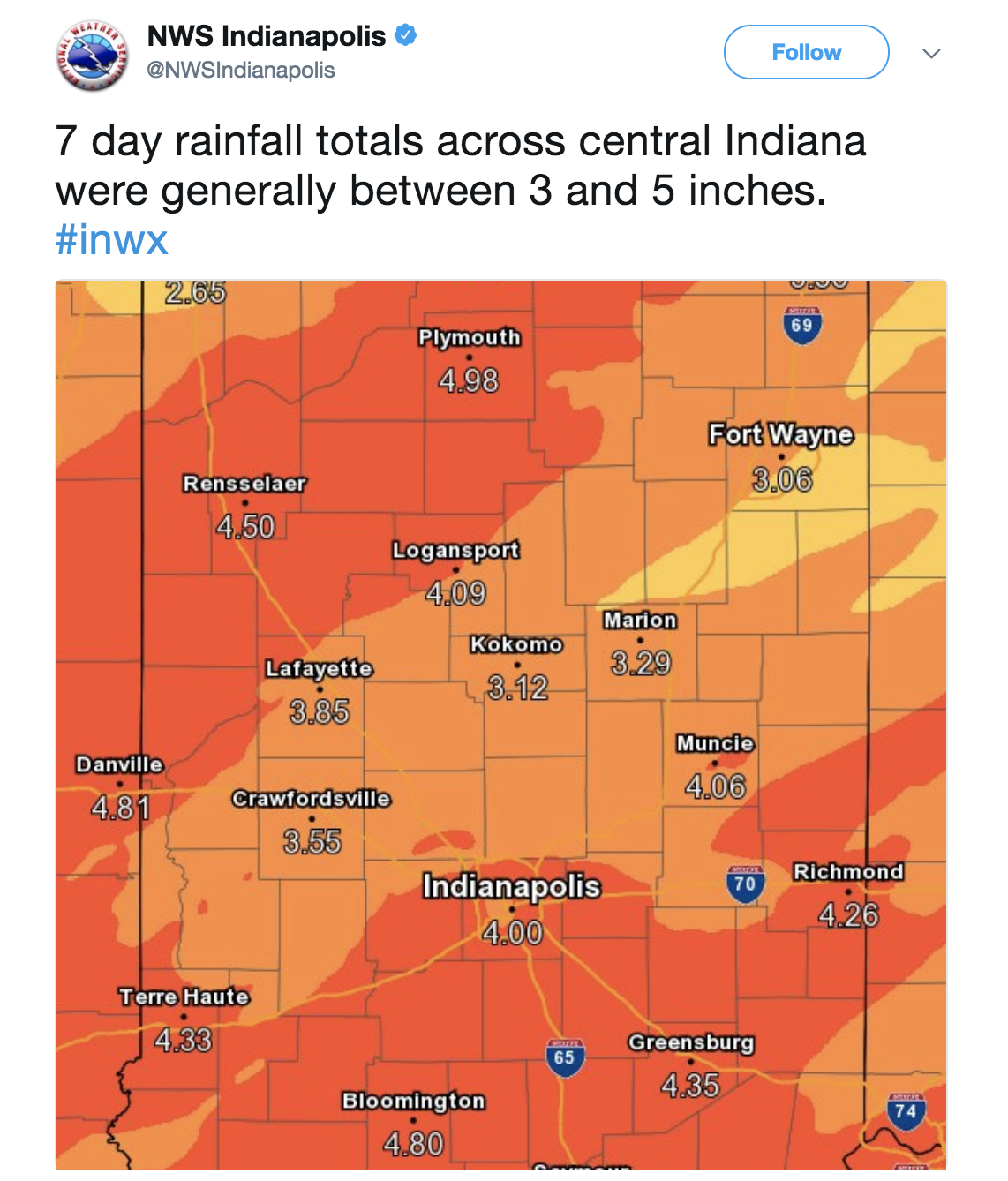 811 am est sun feb 25 2018 the national weather service in indianapolis has issued a flood warning for monroe county in south central indiana