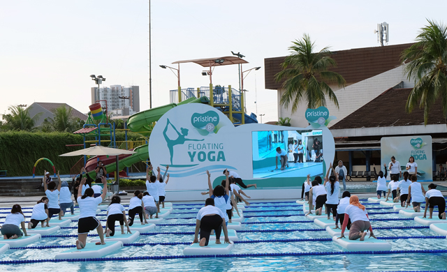 floating yoga