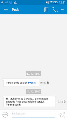 Bukti Akun yang Telah di Terima dan Gratis Saldo Rp25.000
