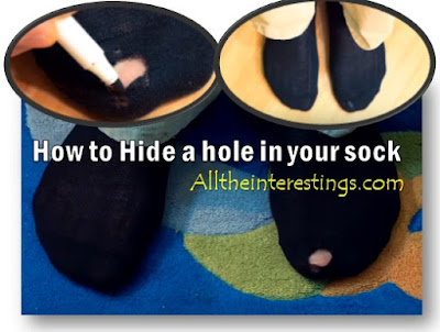 Hide a hole in your Sock