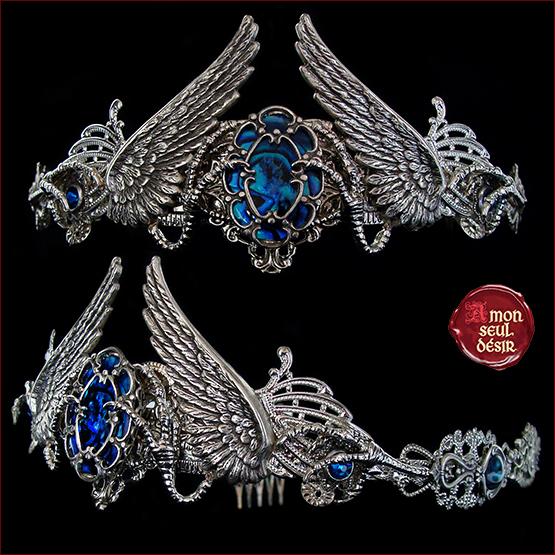 couronne médiévale diadème Rowena Serdaigle Ravenclaw Diadem raven crown