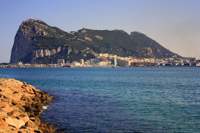 Gibraltar and the Rock in the evening
