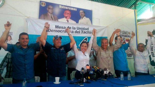 """Laydi Gómez: """"Con unidad vamos a desalojar a Vielma Mora de la gobernación del Táchira"""""""