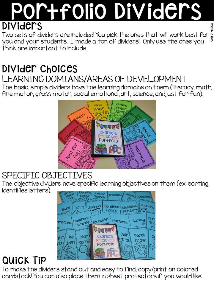 Portfolios  Assessments for Preschool, Pre-K, and Kindergarten