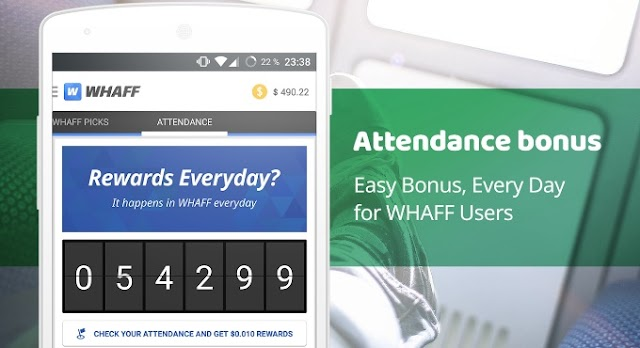 """Whaff app refferal code """"HV39416"""" LOOT 20rs/refer 500rs daily money"""