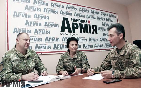 під час прямої телефонної лінії в редакції «Народної армії»