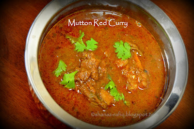 Mangalorean Style Mutton Red Curry
