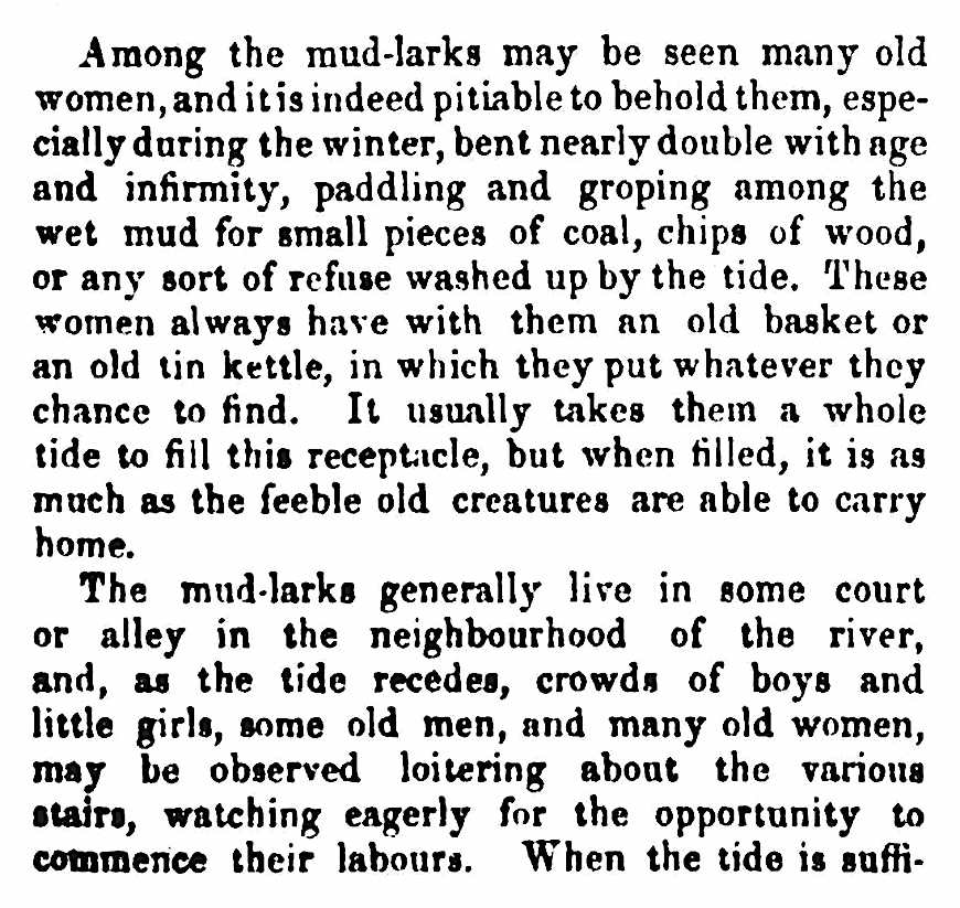 1861 London mud-larks, a description of poverty page 2 of 2
