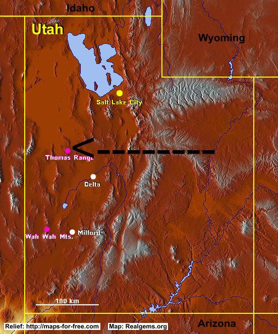 Csms Geology Post Durangite Red Arsenate West Desert Utah
