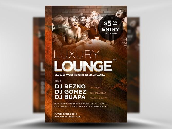Luxury Lounge Flyer
