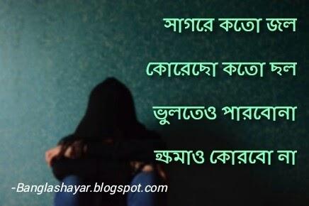 Sad love shayari pic bengali