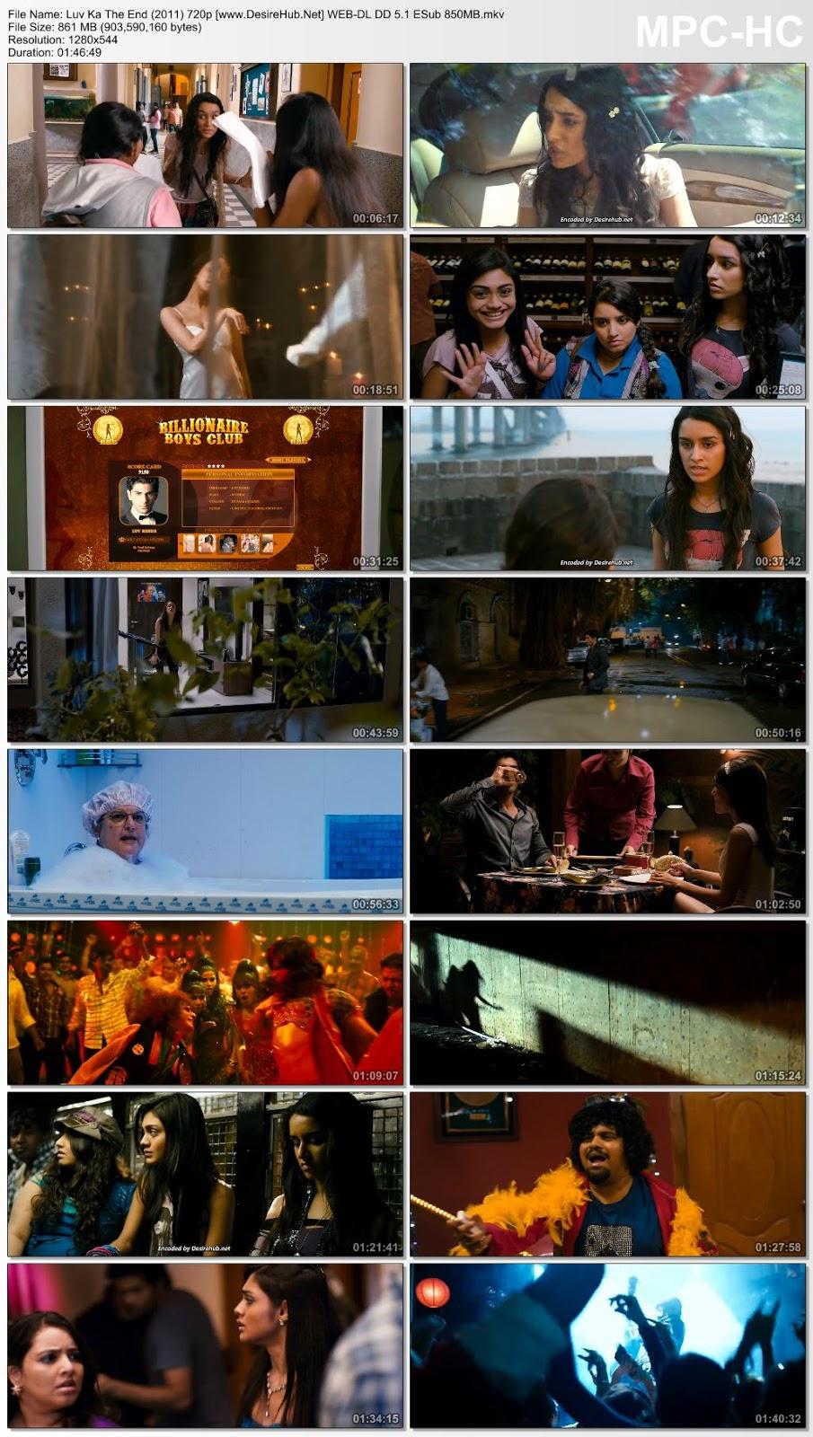 Luv Ka The End (2011) 720p WEB-DL DD 5.1 ESub 850MB Desirehub