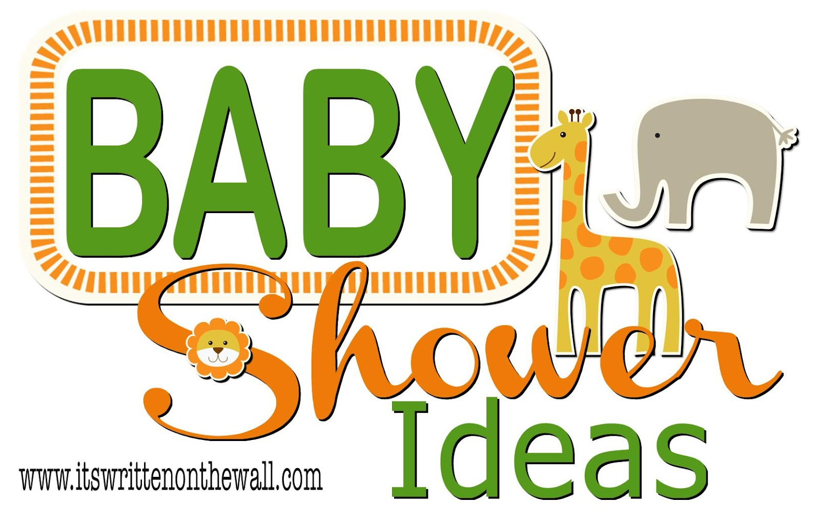 it 39 s written on the wall cute ideas for your baby shower gotta see