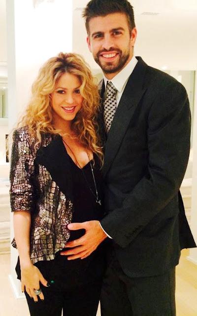 Foto de Shakira muy feliz con su pareja Gerard Piqué