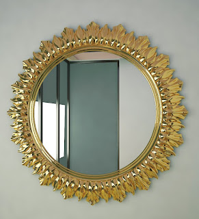 A Round Wall Mirror